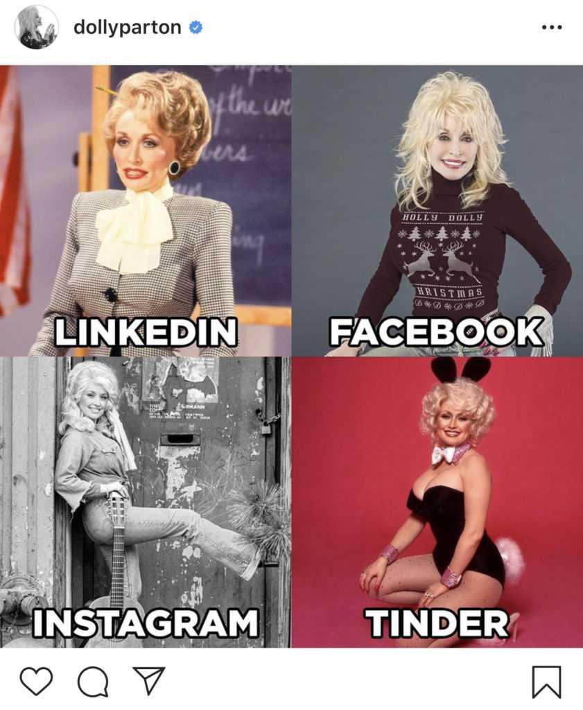 I quattro scatti di Dolly Parton per la Dolly Parton Challenge